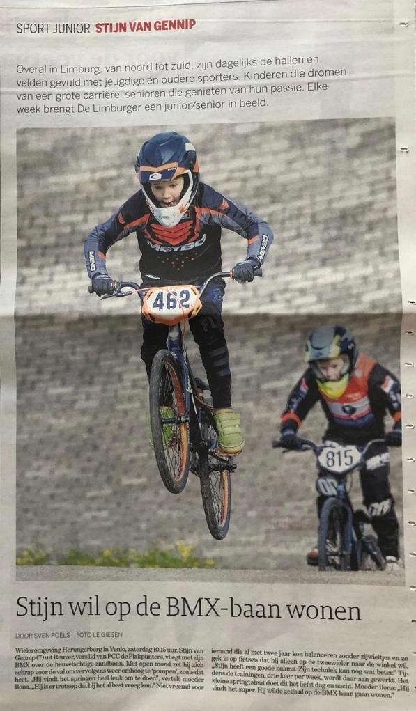 Stijn wil op de BMX baan wonen